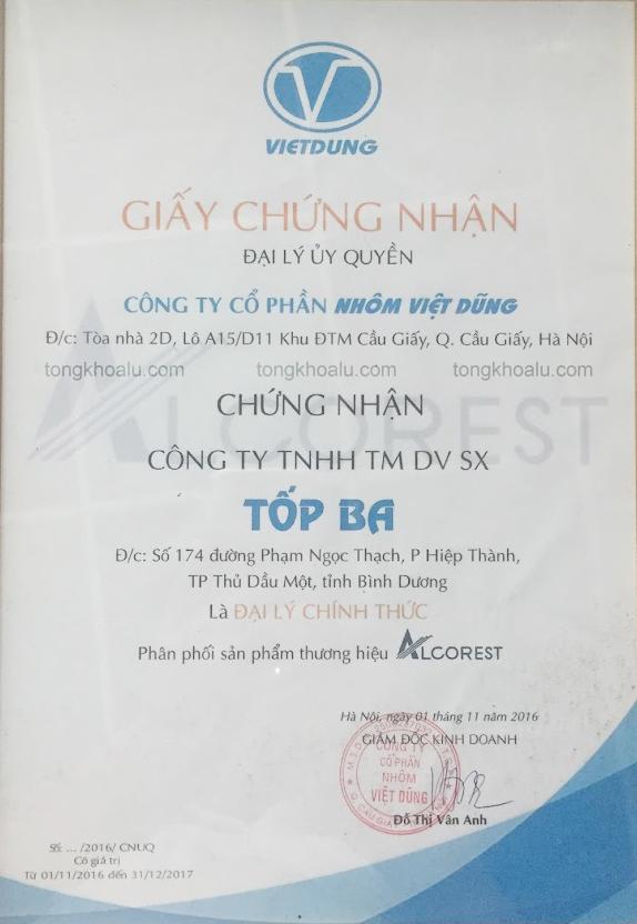 Chung nhan dai ly alcorest - Giới thiệu