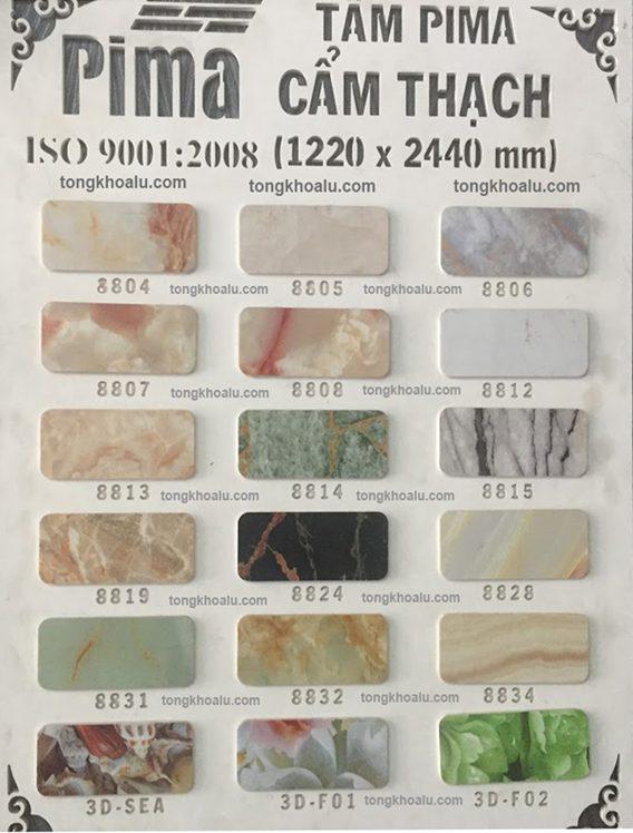 bang mau pima cam thach - Bảng giá tấm Formex - PVC Foam