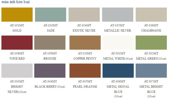 Bảng mã màu tấm alu alcotop - alcotop hàn quốc