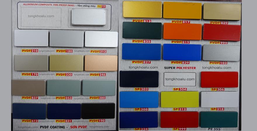 Mã màu PVDF 813 - Màu đồng