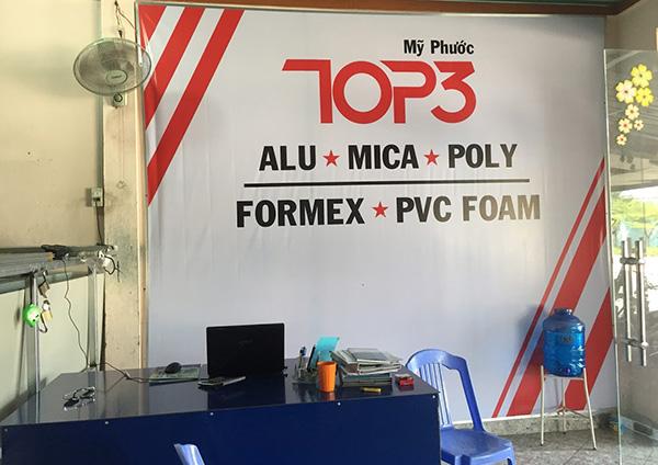 cua hang vat tu quang cao my phuoc 3 - Đại lý alu mica poly tại Mỹ Phước | Đại lý alu chính hãng tại Bến Cát