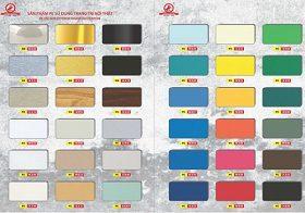 bang mau trieu chen11 280x196 - Alu triều chen trong nhà giá sỉ và lẻ số lượng lớn uy tín giá rẻ tại Kho