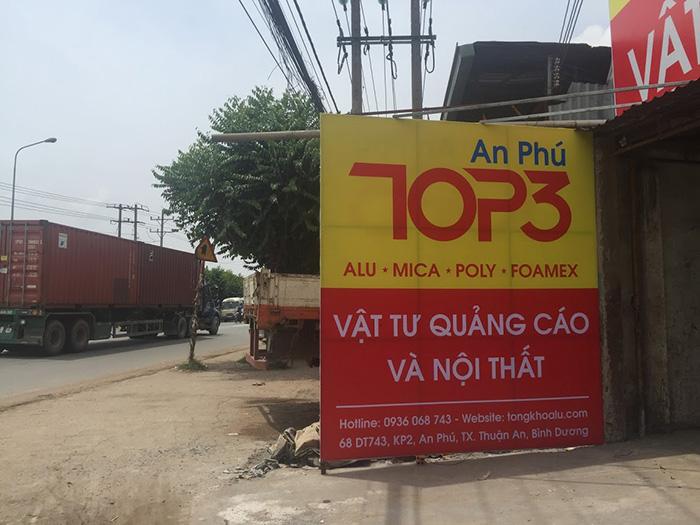 Đại lý alu mica poly tại An Phú, Thuận An, Bình Dương.
