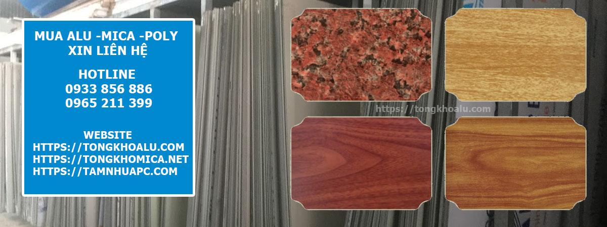 Các loại màu tấm alu vân gỗ alu vân đá phổ biến